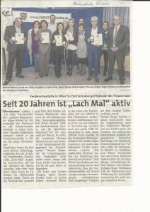 Zeitungsartikel Theaterclub Lachmal 20 Jahre Kopie 2