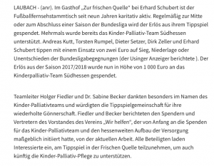 News Archiv Kinder Palliativ Team Südhessen